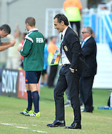 Cesare Prandelli of Italy reacts during the 2014 FIFA World Cup match at Arena das Dunas, Natal<br /> Picture by Stefano Gnech/Focus Images Ltd +39 333 1641678<br /> 24/06/2014