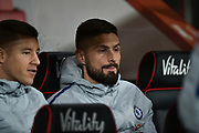 Chelsea Forward, Olivier Giroud (18) during the Premier League match between Bournemouth and Chelsea at the Vitality Stadium, Bournemouth, England on 30 January 2019.