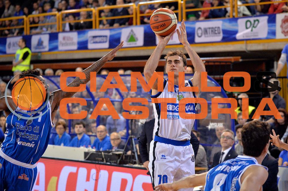Franko Bushati<br /> Germani Basket Brescia Leonessa - Banco di Sardegna Dinamo Sassari <br /> Lega Basket Serie A 2016/2017<br /> Montichiari, 05/02/2017<br /> Foto Ciamillo-Castoria