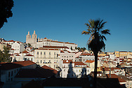Portugal. Lisbon. Alfama district  view from santa lucia/ le quartier de l'Alfama . Lisbonne