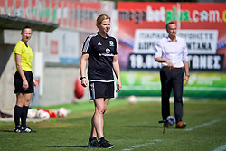 LARNACA, CYPRUS - Wednesday, March 7, 2018: Wales' manager Jayne Ludlow during the Cyprus Women's Cup match between Austria and Wales on day nine of the Cyprus Cup tournament at the AEK Arena - Georgios Karapatakis. (Pic by David Rawcliffe/Propaganda)