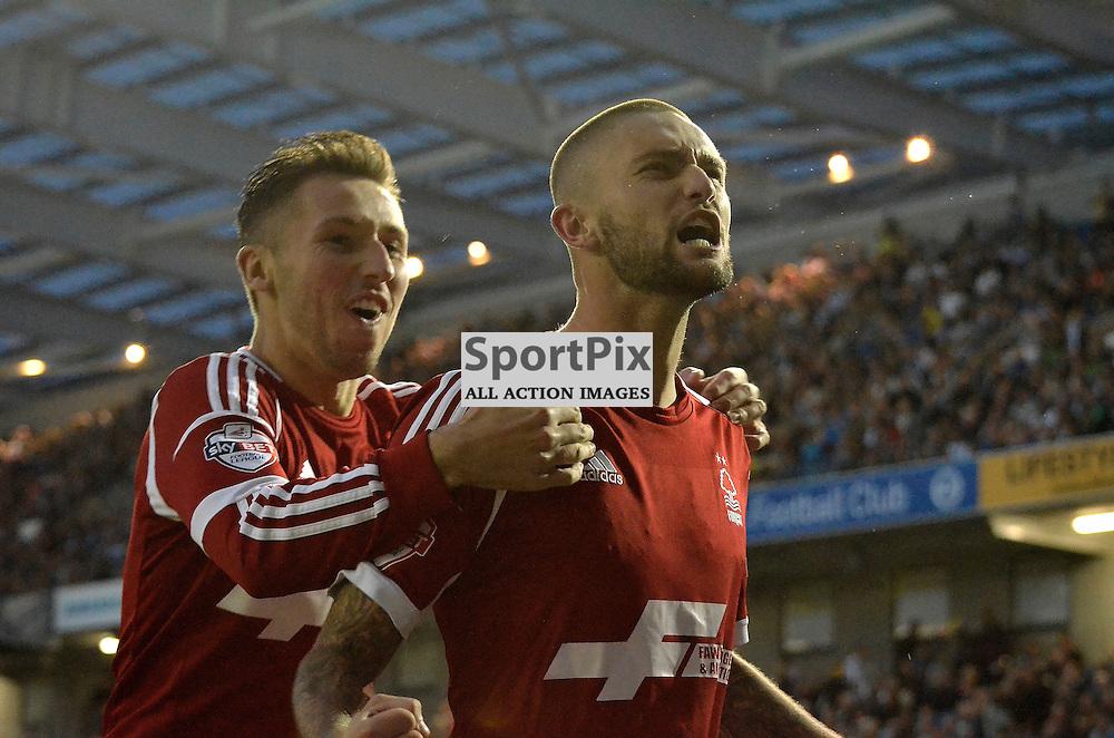 Henri Lansbury celebrates his goal. (c) Michael Hulf | SportPix.org.uk