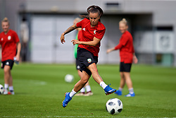 NEWPORT, WALES - Thursday, August 30, 2018: Wales' Natasha Harding during a training session at Rodney Parade ahead of the final FIFA Women's World Cup 2019 Qualifying Round Group 1 match against England. (Pic by David Rawcliffe/Propaganda)