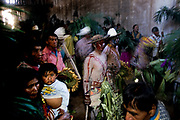 For the Coras, a small indigenous people of the Sierra Madre, the Holy Week is the most important religious event of the year characterized with impressive ceremonies symbolising the struggle of Christ-Sun against darkness Devils connected with fertility cults. The catholic priest doesn't partecipate to the ceremonies