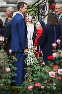 Anne Hidalgo, Major of Paris, King Felipe VI of Spain and Queen Letizia of Spain attend a Opening of 'Jardin des combattants of 'La Nueve', Spanish releasing the Villa de Paris, August 25, 1944' at Hotel de Ville on March 25, 2015 in Paris<br /> Meeting with more than 600 guests