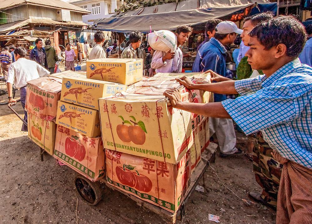 Chauk and road to Bagan, Myanmar.