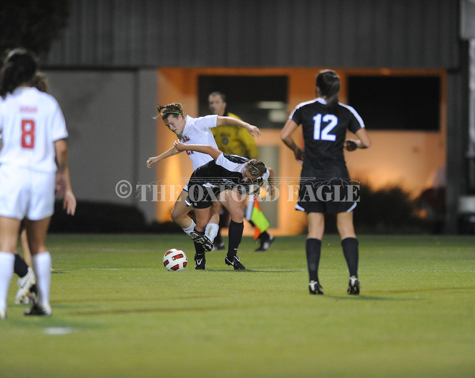 Ole Miss' Mandy McCalla (21) vs. Kentucky soccer in Oxford, Miss. on Thursday, October 21, 2010. Ole Miss won 2-1 in overtime.