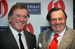 © under license to London News Pictures. 10/02/11 Terry Wogan and Barry Humphries at the 2011 Oldie of the Year Awards at Simpsons On The Strand. Photo credit should read: Olivia Harris/ London News Pictures