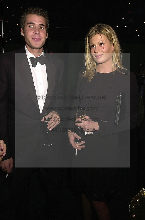 MR ANTHONY DE ROTHSCHILD and MISS TANIA STRECKER, at a dinner in London on 24th October 2000.OID 63