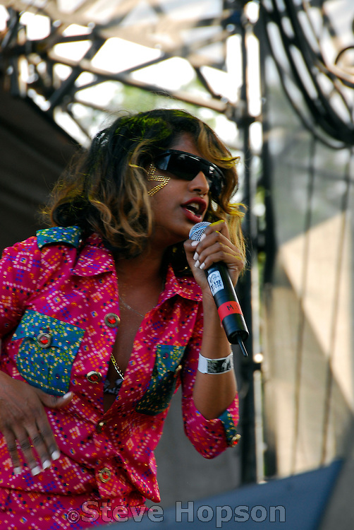 British rapper, M.I.A. performing at the Austin City Limits Music Festival on September 14, 2007.