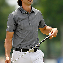 Apr 29, 2012; Avondale, LA, USA; Cameron Tringale on the ninth hole during the final round of the Zurich Classic of New Orleans at TPC Louisiana. Mandatory Credit: Derick E. Hingle-US PRESSWIRE