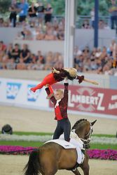 Engelberty, Pia (GER);<br /> Jacobs, Torben (GER), Danny Boy<br /> Aachen - Europameisterschaften 2015<br /> Voltigieren Pas de Deux Finale Kür,<br /> © www.sportfotos-lafrentz.de/Stefan Lafrentz