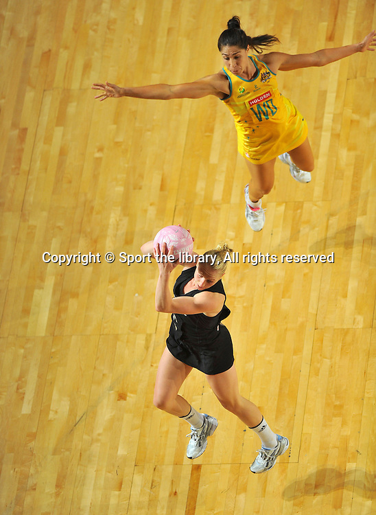 Laura Langman (NZ)<br /> 2011 Holden Netball Test Series<br /> Australia vs New Zealand <br />  Sunday 30 October 2011<br /> Hisense Arena/ Melbourne Australia <br /> &copy; Sport the library / Jeff Crow