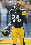 November 21, 2009: Iowa cornerback Chris Rowell (34) is introduced as part of senior day before the Iowa Hawkeyes 12-0 win over the Minnesota Golden Gophers at Kinnick Stadium in Iowa City, Iowa on November 21, 2009.