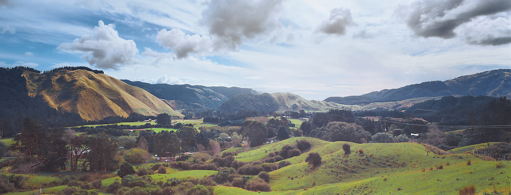 The Akatarawa valley on an overcast day, Lower North Island, New Zealand