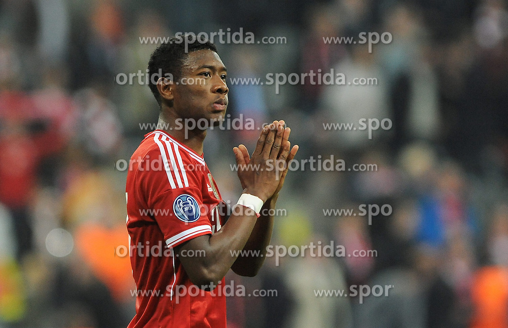 29.04.2014, Allianz Arena, Muenchen, GER, UEFA CL, FC Bayern Muenchen vs Real Madrid, Halbfinale, Ruckspiel, im Bild Enttaeuschung bei David Alaba (FC Bayern Muenchen) // during the UEFA Champions League Round of 4, 2nd Leg Match between FC Bayern Munich vs Real Madrid at the Allianz Arena in Muenchen, Germany on 2014/04/29. EXPA Pictures &copy; 2014, PhotoCredit: EXPA/ Eibner-Pressefoto/ Stuetzle<br /> <br /> *****ATTENTION - OUT of GER*****