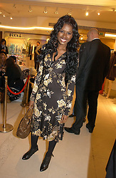 JUNE SARPONG at the launch of Roberto Cavalli Vodka held in the International Designer Room, Harrods, Hans Crescent, London on 5th December 2006.<br />