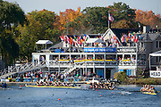 "Cambridge. MA. USA. General View of the course, From Cambridge Boathouse,  and right Directors enclosure. 49th Edition of the ""2013 Head of the Charles"".<br /> <br /> 10:31:18  Saturday  19/10/2013<br /> <br /> [Mandatory Credit. Peter SPURRIER /Intersport Images]"