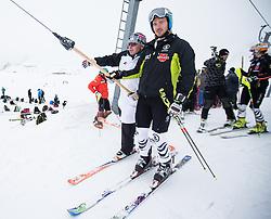 10.10.2012, Hintertuxer Gletscher, Tux, AUT, OeSV, Training, im Bild Mathias Berthold OeSV Cheftrainer Herren und  Felix Neureuther (GER)  // Mathias Berthold OeSV Headcoach Men and Felix Neureuther (GER) during a practice session of the Austrian Ski Team 'OeSV' at Hintertuxer Gletscher in Tux, Austria on 2012/10/10. EXPA Pictures © 2012, PhotoCredit: EXPA/ J. Groder