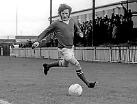 Isaac Andrews, footballer, Linfield FC, October, 1973, 197310000655<br /> <br /> Copyright Image from Victor Patterson, 54 Dorchester Park, <br /> Belfast, UK, BT9 6RJ<br /> <br /> t1: +44 28 9066 1296 (from Rep of Ireland 048 9066 1296)<br /> t2: +44 28 9002 2446 (from Rep of Ireland 048 9002 2446)<br /> m: +44 7802 353836<br /> <br /> e1: victorpatterson@me.com<br /> e2: victorpatterson@gmail.com<br /> <br /> www.victorpatterson.com<br /> <br /> Please see my Terms and Conditions of Use at VICTORPATTERSON.COM. It is IMPORTANT that you familiarise yourself with them.<br /> <br /> Images used on the Internet must be visibly watermarked i.e. ©VICTORPATTERSON.COM within the body of the image and copyright metadata must not be deleted. Images used on the Internet have a size restriction of 4kbs and are chargeable at the then current NUJ rates.<br /> <br /> This image is only available for the use of the download recipient i.e. television station, newspaper, magazine, book publisher, etc, and must not be passed on to any third party. It is also downloaded on condition that each and every usage is notified within 7 days to victorpatterson@me.com<br /> <br /> The right of Victor Patterson to be identified as the author is asserted in accordance with The Copyright Designs And Patents Act (1988).