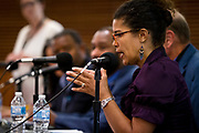 """Annette Miller, right, makes a point on the panel """"Moving past the fear — How to talk about race in all of your spaces"""" at the Cap Times 2017 Idea Fest, Saturday, September 16, 2017"""