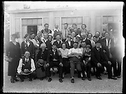 blurry picture of village community gathering  around 1930s France
