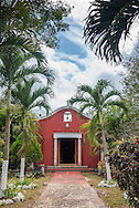 Chapel and gardens on the property of the Restaurante Hacienda Ticuch near Valladolid, Mexico.