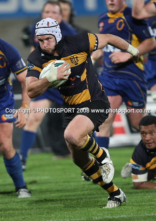 Scott Waldrom.<br /> Air NZ Cup, Otago v Taranaki, Carisbrook, Dunedin, Friday 19 September 2008. Photo: Rob Jefferies/PHOTOSPORT