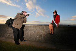 UK ENGLAND MORECAMBE 10FEB10 - Miss England, Katrina Hodge (22) during a local newspaper photo shoot at Morecambe, Lancashire. Katrina Hodge is on a week-long tour to promote the beauty pageant and careers at the armed forces in northern England...jre/Photo by Jiri Rezac..© Jiri Rezac 2010