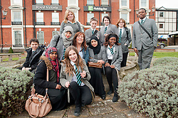 "Hospitality Sheffield's ""Spring Forward"" initiative aimed at attracting the next generation of hospitality professionals took place in Sheffield on Thursday 8th March. Pupils from the parkwood Academy outside the Royal Victorial Holiday Inn...http://www.pauldaviddrabble.co.uk..3  March 2012 -  Image © Paul David Drabble"
