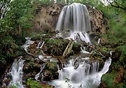 Falling Spring Falls, Bath County, Virginia. A spring fed stream in mountains near the Western border of Virginia.