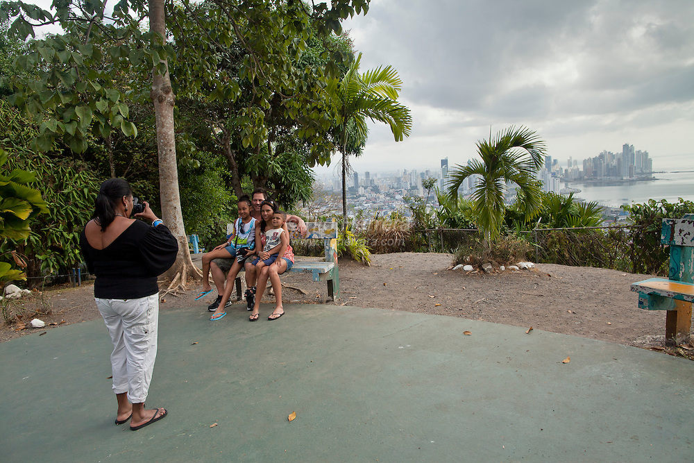 View of Ancon Hill, the highest point and a reserved rain forest are in Panama City, Panama.  Photo by Tito Herrera