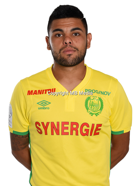 Lucas Lima during photocall of Fc Nantes for new season of Ligue 1 on September 14th 2016<br /> Photo : Fcna / Icon Sport