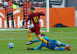 November 27, 2018 - Rome, Italy - AS Roma - FC Real Madrid : UEFA Youth League Group G .Alessio Riccardi of Roma scores the goal of 1-3 at Tre Fontane Stadium in Rome, Italy on November 27, 2018. (Credit Image: © Matteo Ciambelli/NurPhoto via ZUMA Press)