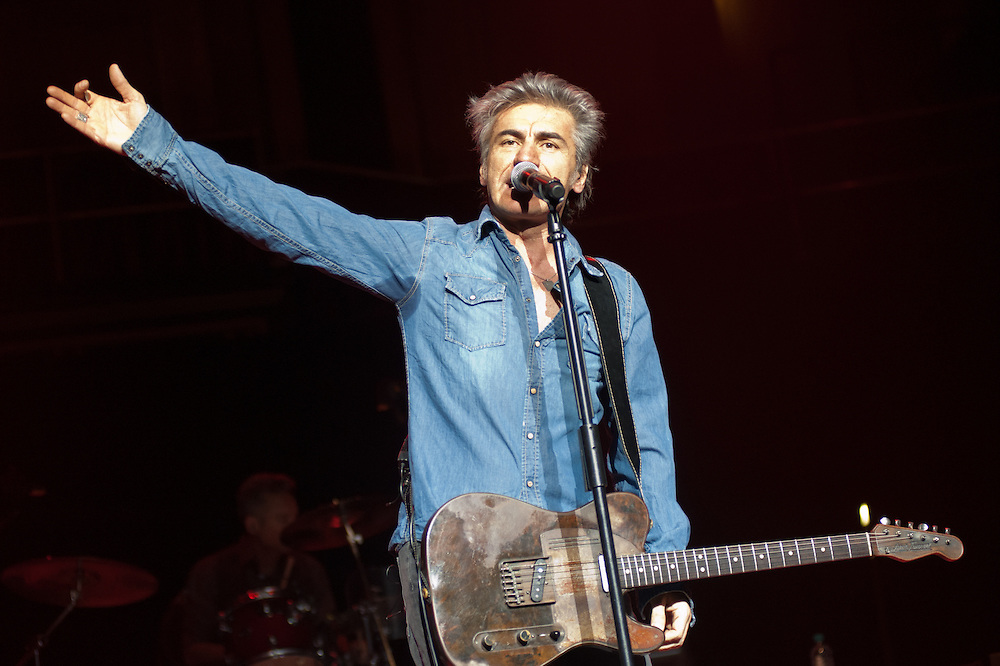 London, UK - 5 April 2013: Italian singer Ligabue performs live at Royal Albert Hall in London. High quality fine art prints are available for delivering worldwide. Contact me on pcruciatti@gmail.com