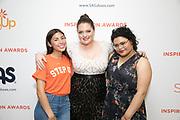 Lauren Ash and Step Up teens Romina, Lauren Ash, Honoree Alondra