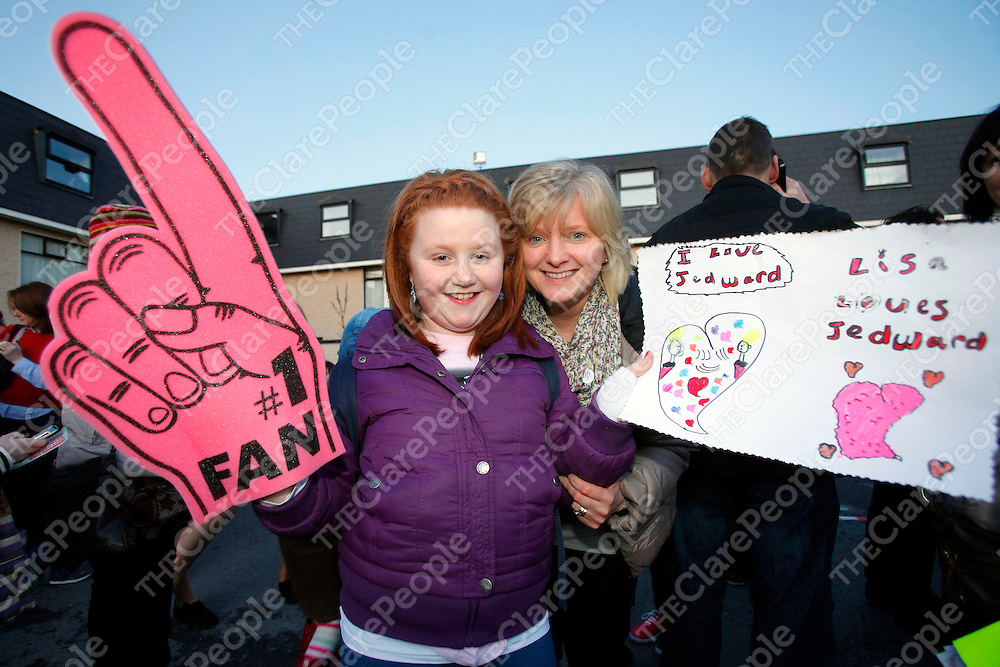 11/02/12<br /> Ann Orla and Lisa Mulcaire pictured at the Jedward Concert which took place at the west County Hotel, Ennis, Limerick on Saturday evening.<br /> Picture: Don Moloney / Press 22