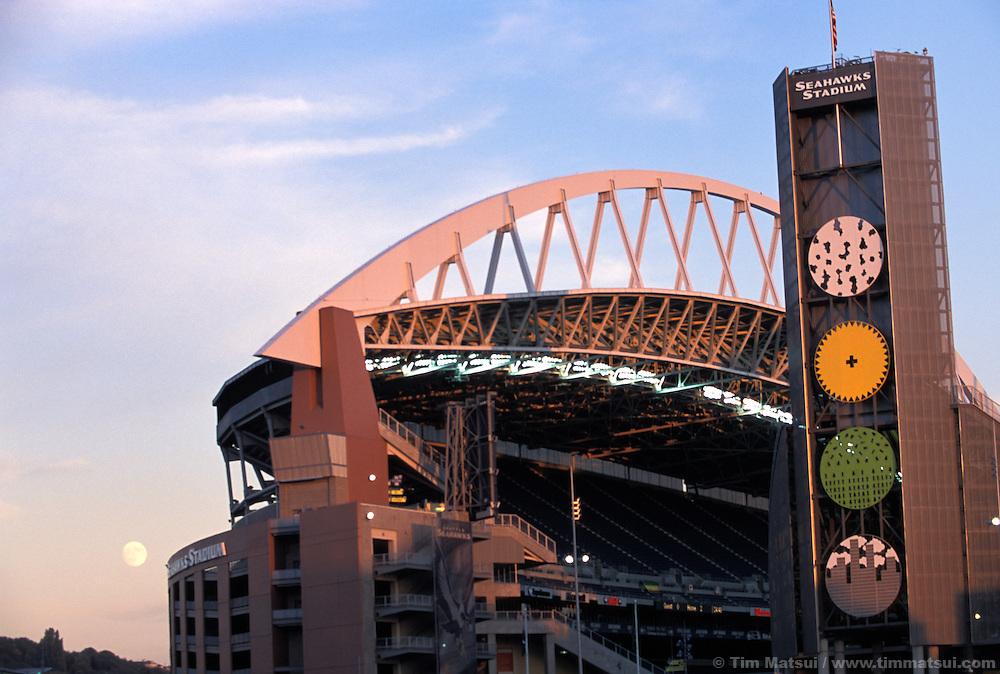 Seahawks stadium in downtown Seattle.