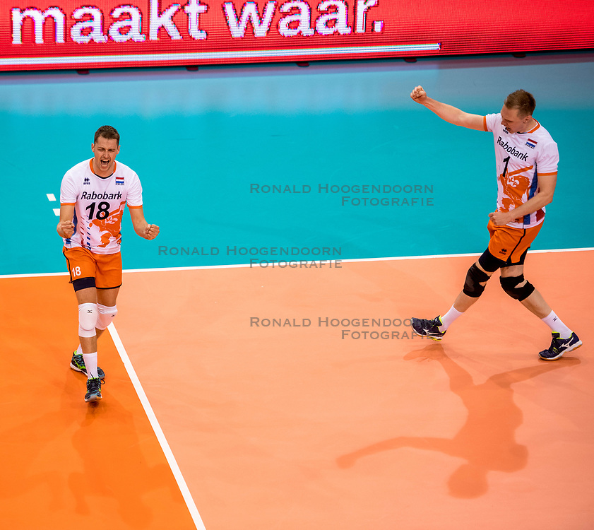 20-05-2018 NED: Netherlands - Slovenia, Doetinchem<br /> First match Golden European League / Robbert Andringa #18 of Netherlands, Daan van Haarlem #1 of Netherlands