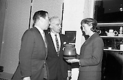 Opening of Kilkenny Design Workshop. W.H. Walshe, chairman; Sir Basil Goulding, Direcctor; and Phillipa Quinlan, Assstant to the Exhibition.<br /> 15.11.1965