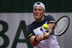 May 21, 2019 - Paris, France - Illya Marchenko during the match between Arthur De Greef of BEL vs Illya Marchenko of UKR in the first round qualifications of 2019 Roland Garros, in Paris, France, on May 21, 2019. (Credit Image: © Ibrahim Ezzat/NurPhoto via ZUMA Press)
