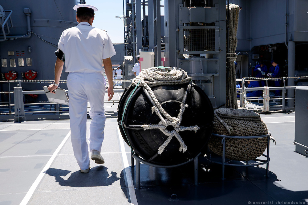 Officer on the Yamagiri ship.<br /> <br /> Miho Ootani, the first woman destroyer captain of Japan's Marine Self Defence Forces (MSDF), on board the Yamagiri in Yokosuka army base near Tokyo.