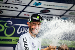 Giacomo Nizzolo (ITA) of Team Dimension Data celebrating 5th Stage of 26th Tour of Slovenia 2019 cycling race between Trebnje and Novo mesto (167,5 km), on June 23, 2019 in Slovenia. Photo by Peter Podobnik / Sportida