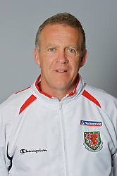 SWANSEA, WALES - Monday, March 30, 2009: Wales' Under-21 assistant coach Alan Curtis. (Photo by David Rawcliffe/Propaganda)
