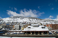 clear winter morning Old Town Park City UT