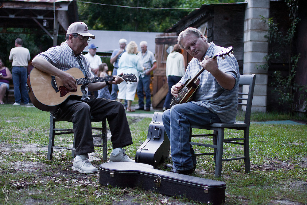 People gather every Saturday night to hear some Bluegrass music at Guy & Tina's Pickin Parlor in Four Hole Swamp near Moncks Corner.