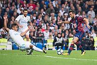 Real Madrid Carlos Henrique Casemiro and Eibar Joan Jordan during La Liga match between Real Madrid and Eibar at Santiago Bernabeu Stadium in Madrid, Spain. October 22, 2017. (ALTERPHOTOS/Borja B.Hojas)