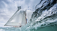 Image licensed to Lloyd Images <br /> The Royal Yacht Squadron Bicentenary Regatta . Pictures of the classic yacht Eleonora shown here racing around the Isle of Wight as part of the 200th anniversary sailing week.<br /> Credit: Lloyd Images