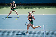 Cassidy Binder. Idaho High School State Tennis Championships on May 20, 2017 at Boise State University's Appleton Tennis Complex, Boise, Idaho. <br /> <br /> Boise's girls doubles team of Jennifer Wong and Greta Walser won a thriller over Borah's Cassidy Binder and Madeline Krausteam, 6-4, 3-6, 7-6 (10-8) to claim the 5A girls doubles title.