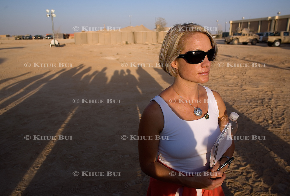 Incoming White House Press Secretary Dana Perino at the Al-Asad Air Base Monday, September 3, 2007, in Iraq...Photo by Khue Bui
